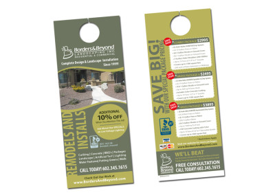 Borders & Beyond Door Hanger Design