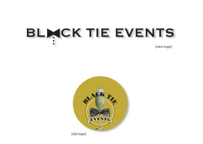 Black Tie Events Logo Redesign