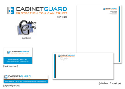 Cabinet Guard Logo & Business Tools Package Design