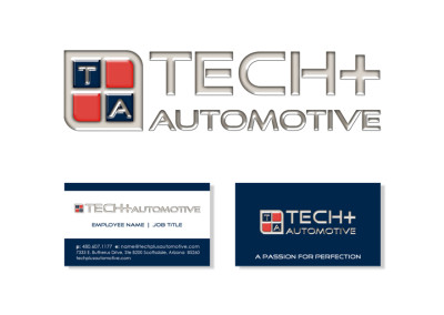 Tech+ Automotive Logo & Business Card Design