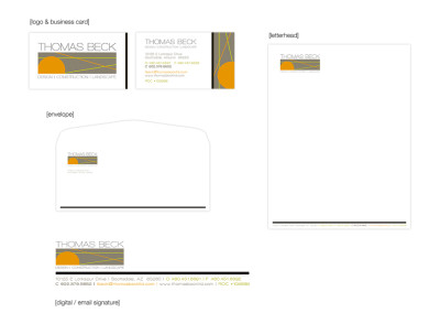 Thomas Beck Logo & Business Tool Package Design